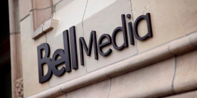 The logo for Bell Media, owned by BCE Inc., is displayed on a Toronto building in a handout