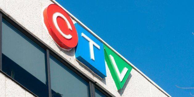 The CTV logo sits atop the company's Montreal