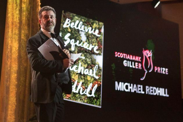 Author Michael Redhill celebrates winning the 2017 Giller Prize for his novel