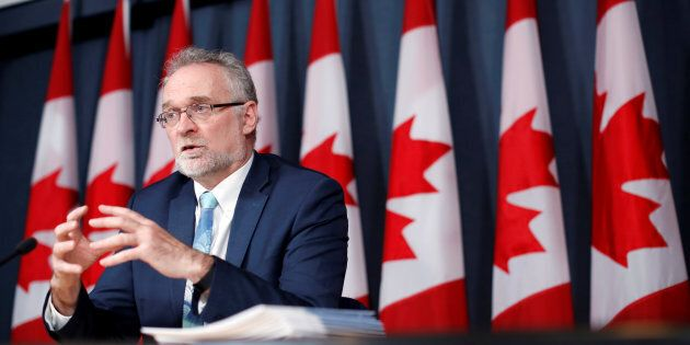 Auditor General Michael Ferguson speaks during a news conference in Ottawa on May 3,