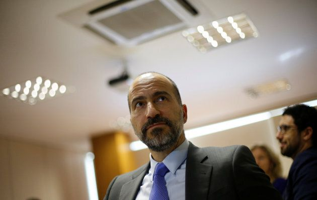 The CEO of Uber, Dara Khosrowshahi, attends a meeting in Brasilia, Brazil on Oct. 31, 2017.