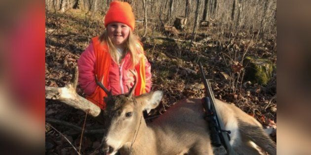 Six-year-old Lexie Harris is one of the youngest shooters to bag a buck after U.S. state Wisconsin scrapped...