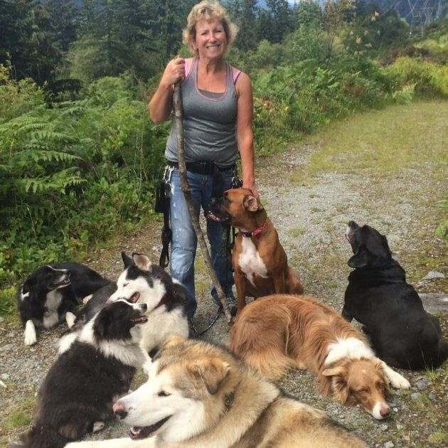 Dog walker Annette Poitras had been missing since Monday. She had taken three dogs on a
