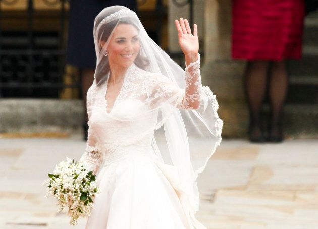 Kate Middleton arrives to Westminster Abbey for her marriage to Prince William in London April 29,