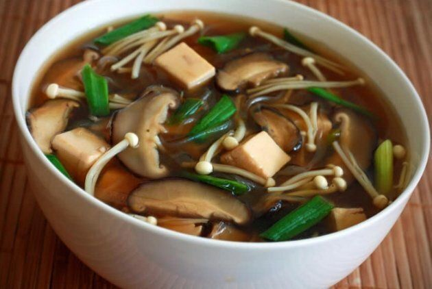 Japanese Mushroom, Tofu and Vermicelli Soup from Daring
