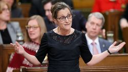 Freeland Asks Tory MP To Deliver Message To 'Former Boss'