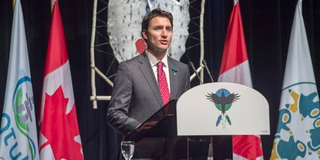 Prime Minister Justin Trudeau delivers an apology on behalf of the government of Canada to former students...