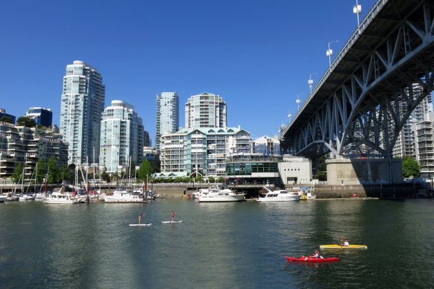 False Creek in Vancouver. British Columbia is expected to lead economic growth in Canada next year, according...