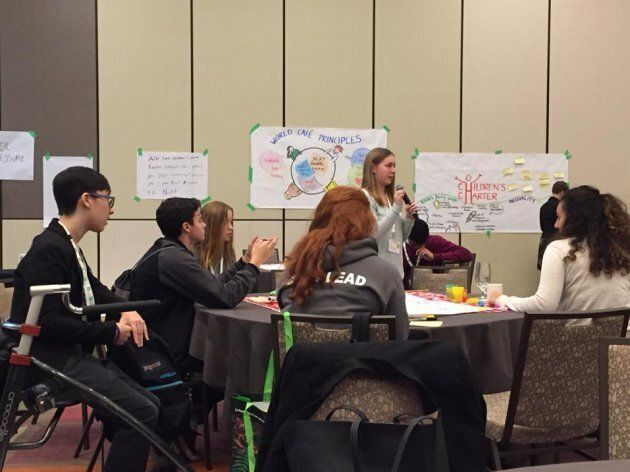 Canadian youth discuss elements they want included in the Canadian Children's