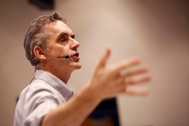 Jordan Peterson lectures at the University of Toronto on Jan. 10, 2017.