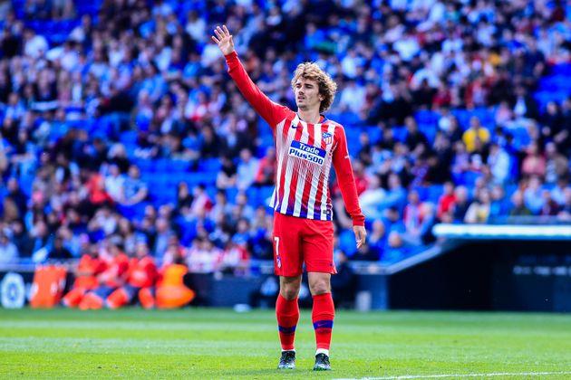 Antoine Griezmann lors d'Espanyol de Barcelone-Atlético Madrid en Liga le 4 mai