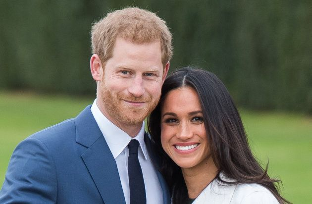 Prince Harry and Meghan Markle during an official photo call to announce their engagement on Nov.