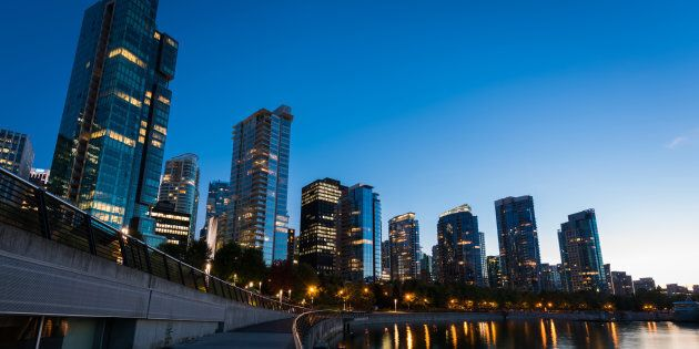 Condo and apartment buildings along Vancouver's Coal Harbour. The city has one of the country's lowest...