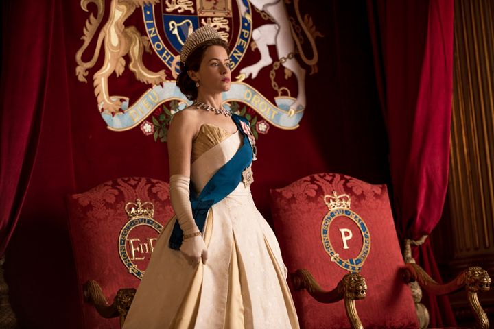 "Claire Foy as Queen Elizabeth II in ""The Crown"" season two."