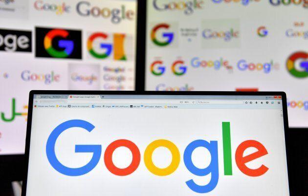 Logos of U.S. multinational technology company Google displayed on computers' screens.