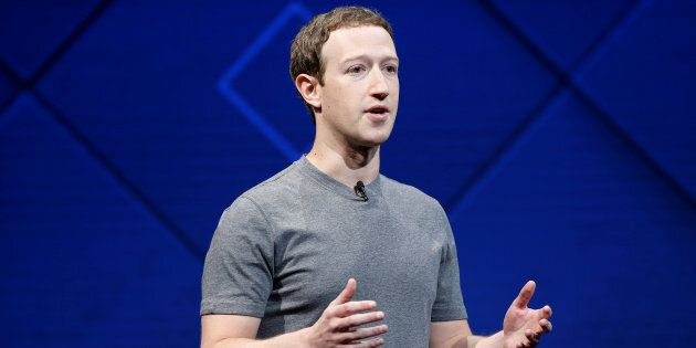 Facebook Founder and CEO Mark Zuckerberg speaks on stage during the annual Facebook F8 developers conference...