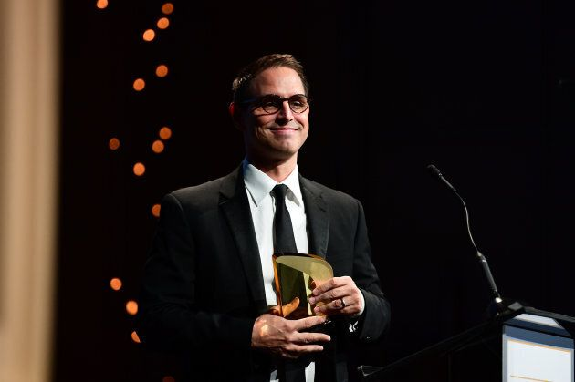 Greg Berlanti speaks onstage during the 6th Annual Australians in Film Award & Benefit Dinner at NeueHouse Hollywood on Oct. 18, 2017 in Los Angeles.