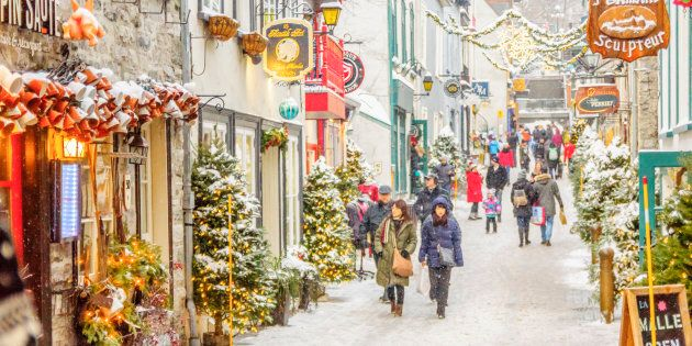 Christmas City.Quebec City Was Ranked One Of The Best Christmas