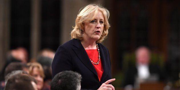 Conservative MP Lisa Raitt speaks in the House of Commons on Nov. 23,