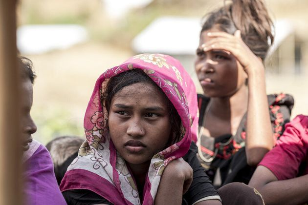 Solema, 12, fled Mynmar and now lives in Cox's Bazar, Bangladesh. She feels shy and nervous when men...