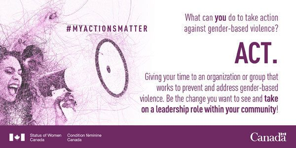 An infobite from the Government of Canada regarding the 16 Days of Activism Against Gender-Based Violence