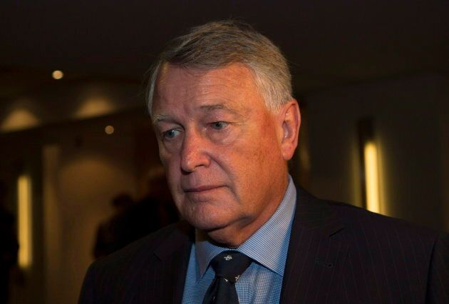 Federal Court Justice Robin Camp leaves a Canadian Judicial Council inquiry in a Calgary hotel on Sept. 9, 2016. The body that oversees the judiciary in Canada said the judge should lose his job after he asked a sexual assault complainant in a trial why she couldn't keep her knees together.