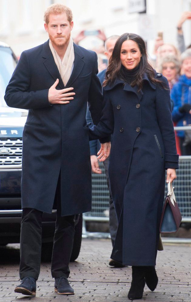 Prince Harry and Meghan Markle greets wellwishers on a walkabout as they arrive for an engagement at Nottingham Contemporary in Nottingham, England, on Dec. 1, 2017.