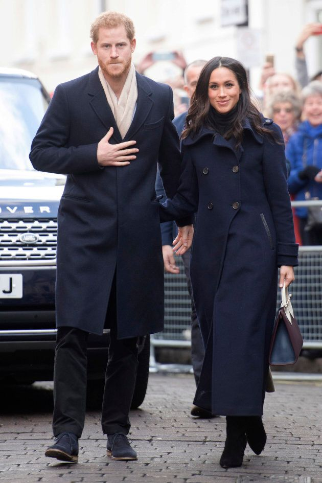 Prince Harry and Meghan Markle visit Nottingham for their first official public engagement together on Dec. 1.