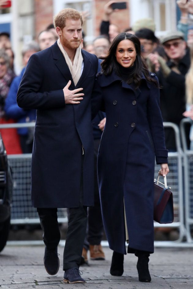 Prince Harry and Meghan Markle attend the Terrance Higgins Trust World AIDS Day charity fair at Nottingham...