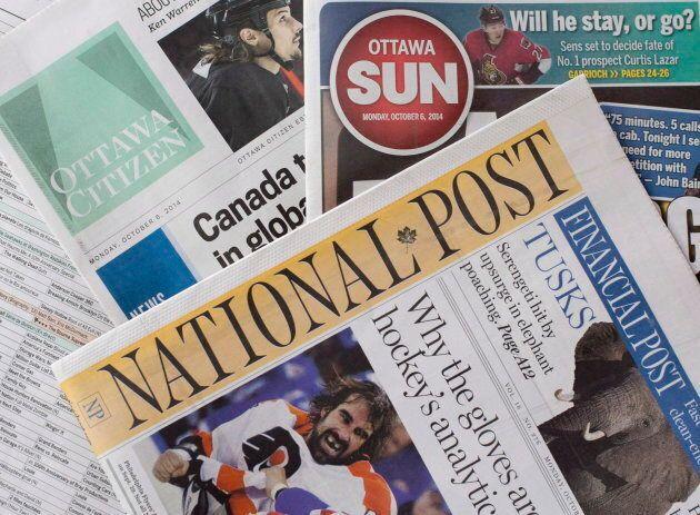 Postmedia newspapers.