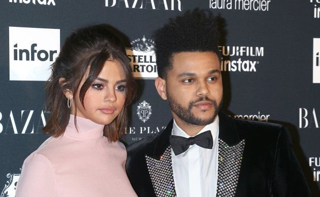 Singers Selena Gomez and The Weeknd attend the 2017 Harper's Bazaar Icons. The broke up the same