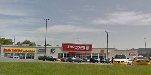 A Google Streetview image of the St. John's Shoppers Drug Mart that Christia Tizzard visited before helping...