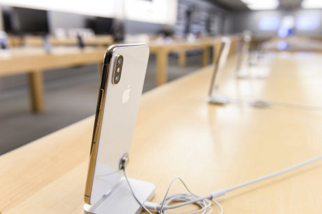 The new iPhone X at Apple Store Eaton Centre is pictured on Nov. 3, 2017 in