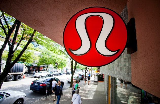 Yogawear retailer Lululemon Athletica Inc's logo is pictured at its store in downtown Vancouver June...