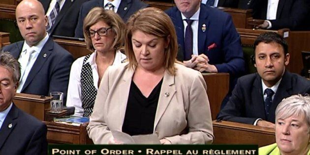 Sherry Romanado speaks in the House of Commons on Dec. 4,