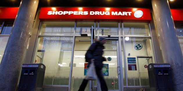 A Shoppers Drug Mart store is pictured in downtown Ottawa Feb. 10,