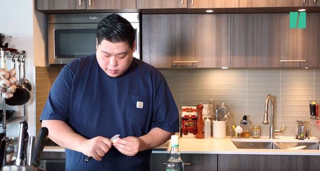 Craig Wong in his kitchen at home in