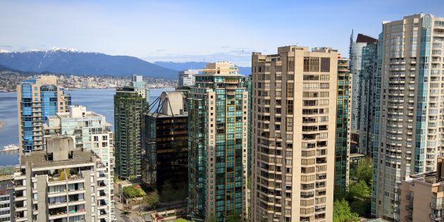 Condo towers in Vancouver's West End. The city has seen a bounce-back in its real estate market, led...