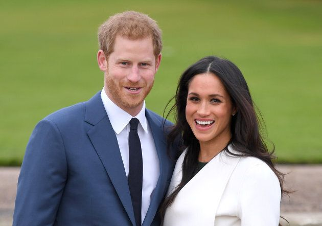 Prince Harry and Meghan Markle attend an official photo call to announce their engagement at Kensington...
