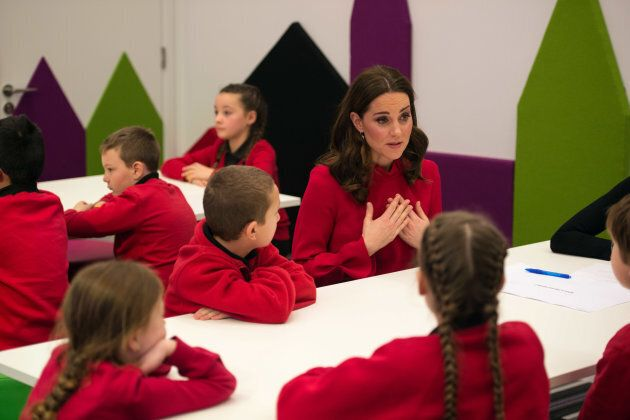The Duchess of Cambridge speaks to children about mental health.