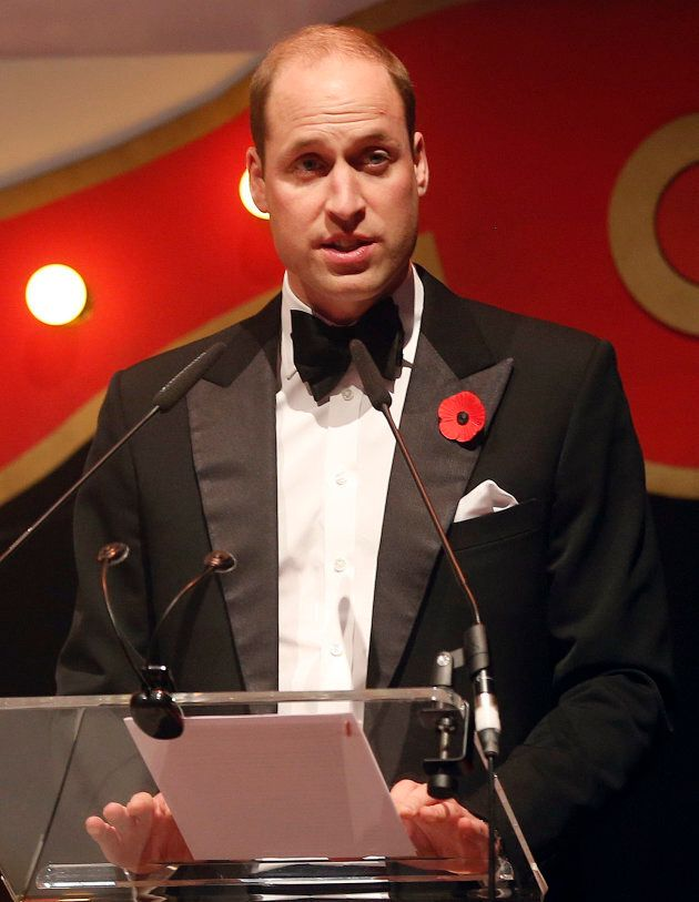 Prince William delivers a speech at the annual SkillForce Gala on Nov. 6 in London.