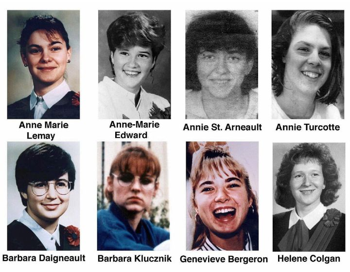 Eight of the 14 women killed in the Dec. 6 shooting rampage at Montreal's Ecole Polytechnique.
