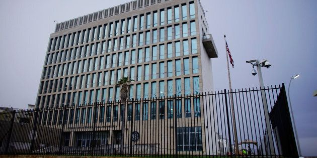 A view shows the U.S. Embassy in Havana, Cuba, Oct. 24,