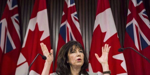 Ontario Auditor general Bonnie Lysyk answers questions about her 2016 annual report at Queen's Park in...