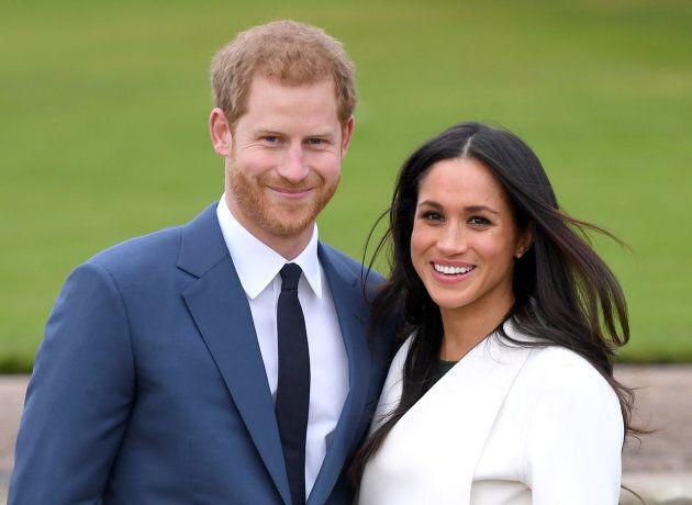 Prince Harry and Meghan Markle at Kensington Palace on Nov. 27 2017.