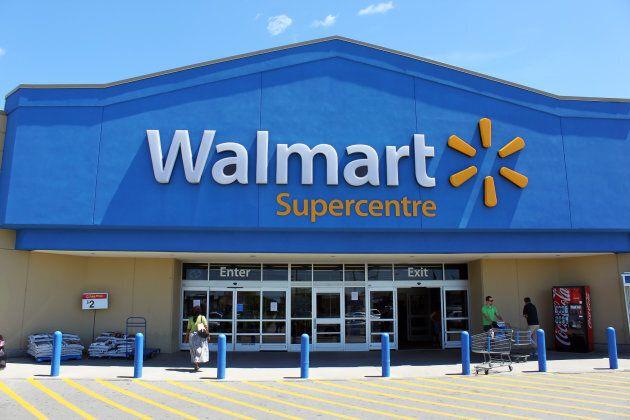 Customers in front of a Walmart Supercentre in Etobicoke,