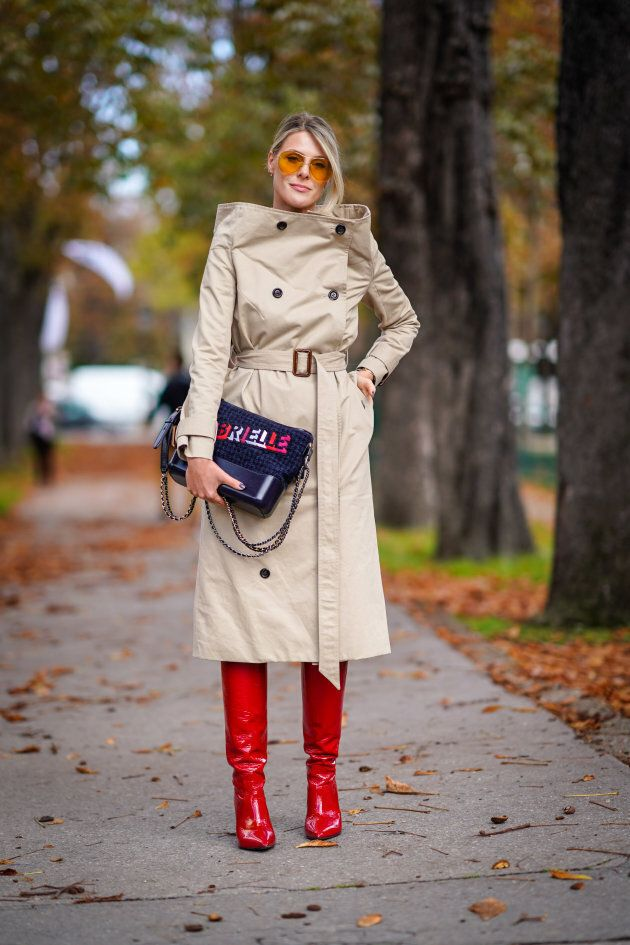 Trench coats are huge for
