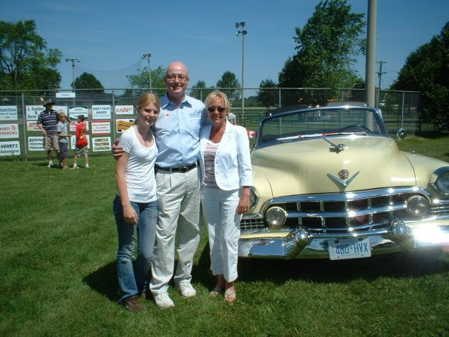 Conservative MP David Sweet is shown with with his daughter Lara and wife Almut on Canada Day in