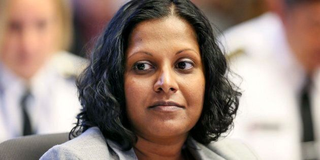 Uppala Chandrasekera attends a Toronto Police Services Board meeting on Oct. 26,