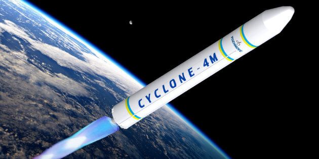 A rendering of a Cyclone 4M rocket, of the sort that could one day be launched into space from a spaceport...